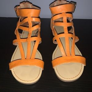 Nine West orange sandals size 7